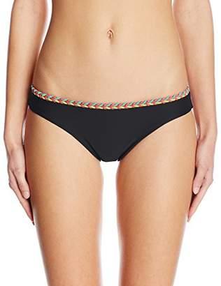 Luli Fama Women's Atrevida Multicolor Crochet Full Bikini Bottom