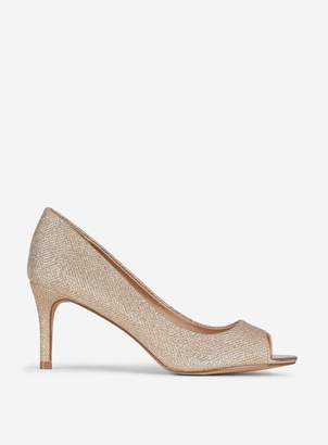 Dorothy Perkins Womens **Showcase Gold 'Ginseng' Court Shoes
