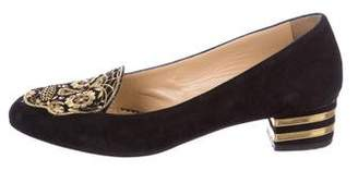 Charlotte Olympia Day Of The Dead Suede Pumps