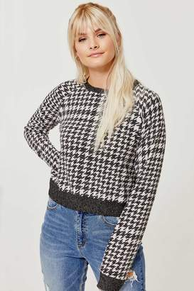 Ardene Cropped Houndstooth Sweater