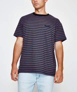 Wrangler Vedder Short Sleeve T-shirt Multi Stripe