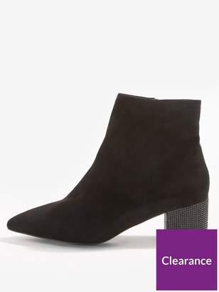 Miss Selfridge Diamanté Heel Boot - Black