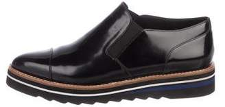 Vince Patent Leather Slip-On Oxfords