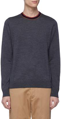 Paul Smith Stripe collar Merino wool-alpaca sweater