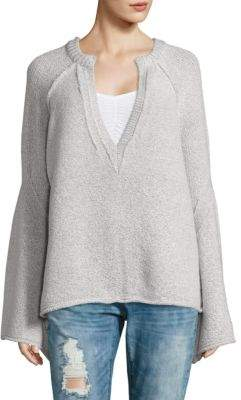 Free People Lovely Lines Bell-Sleeve Sweater