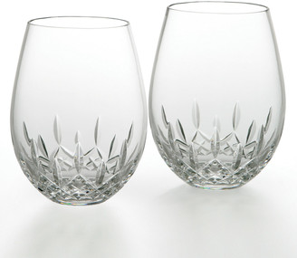 Waterford Crystal Lismore Nouveau Stemless Deep Red Wine Glasses, Set of 2