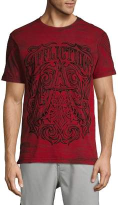 Affliction Graphic High-Low Cotton Blend Tee