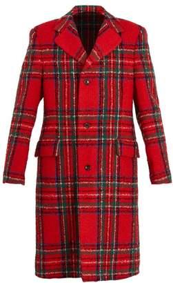 Gucci Tartan Wool Blend Coat - Mens - Red Multi