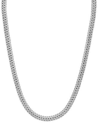 "John Hardy Small Oval Woven Chain Necklace, 18""L"