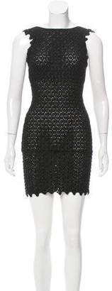 Antonio Berardi Embellished Guipure Lace Dress