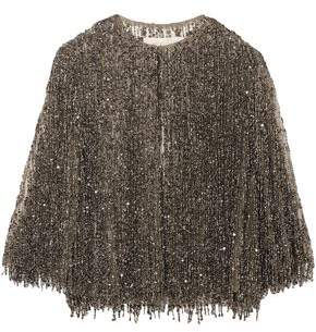 Naeem Khan Embellished Silk-tulle Jacket