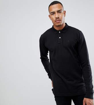 Jacamo Knitted Long Sleeve Polo Shirt
