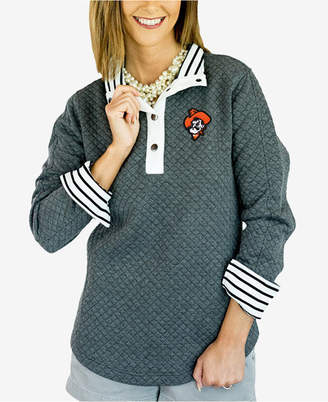 Couture Gameday Women Oklahoma State Cowboys Snap Quilted Pullover