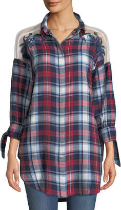 Velvet Heart Radley Tie-Cuff Plaid Tunic