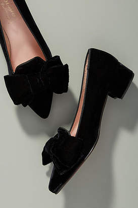 Anthropologie Bisue Ballerina Velvet Loafers