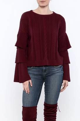 Endless Rose Ruffled Sleeve Sweater $75 thestylecure.com