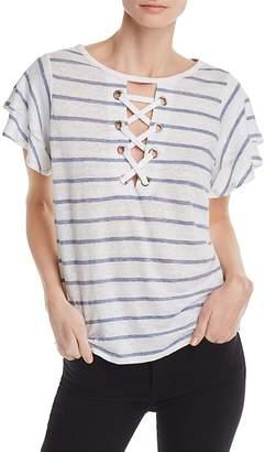 Generation Love Kiki Lace-Up Striped Tee