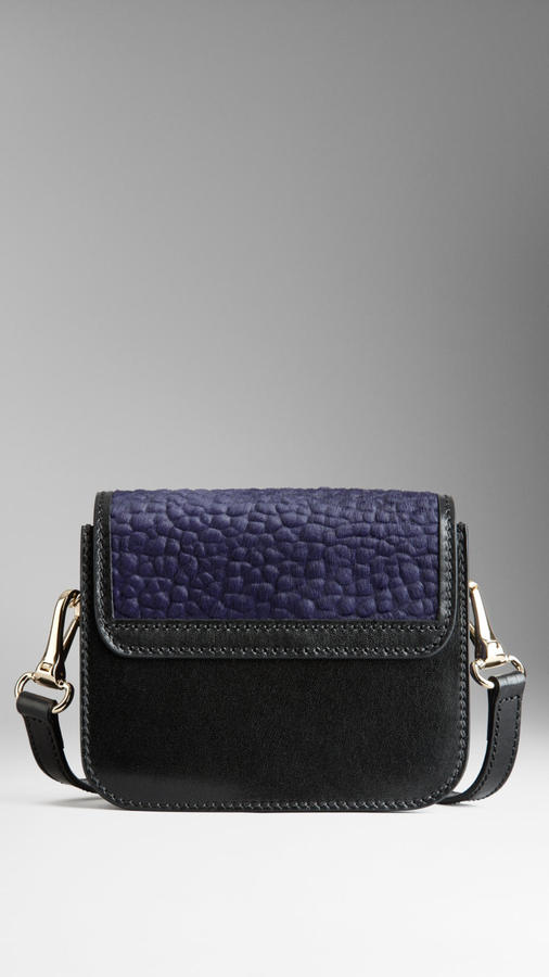 Burberry Glossy Calfskin Crossbody Bag