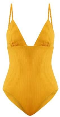 Mara Hoffman Virginia V Neck Swimsuit - Womens - Yellow