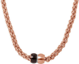 JCPenney FINE JEWELRY Mens Stainless Steel and Rose-Tone IP Braided Chain