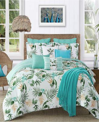 Caribbean Joe Cathay Home Inc. Nassau 4-Piece Queen Comforter Set Bedding