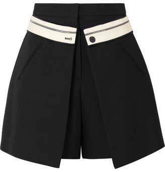 Alexander McQueen (アレキサンダー マックイーン) - Alexander McQueen - Wool-blend Crepe Shorts - Black
