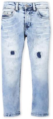 Diesel Boys 4-7) Distressed Waykee Stretch Jeans