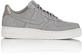 Nike Women's Air Force 1 '07 Premium Sneakers-Grey $120 thestylecure.com