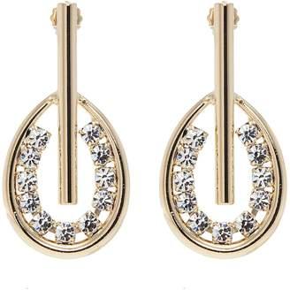 Anton Heunis Swarovski crystal bar hoop drop earrings