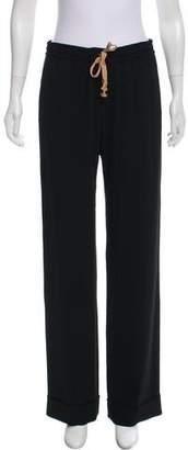 Rene Lezard Mid-Rise Wide-Leg Pants