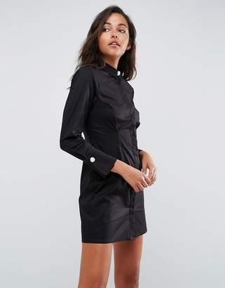 Asos DESIGN Shirt mini dress with Pearl Buttons