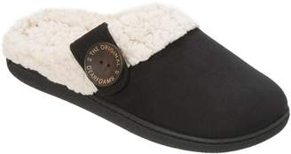 Dearfoams Microsuede Clogs with Button Tab