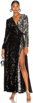 Leone We Are Contrast Sequin Wrap Dress