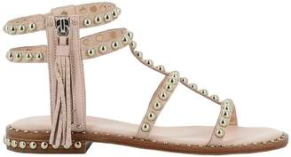 Ash Pink Leather Sandal