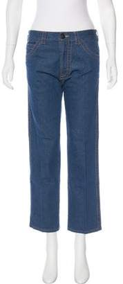 Prada Mid-Rise Cropped Jeans