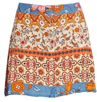 Raga Sun Daze Mixed Print Skirt