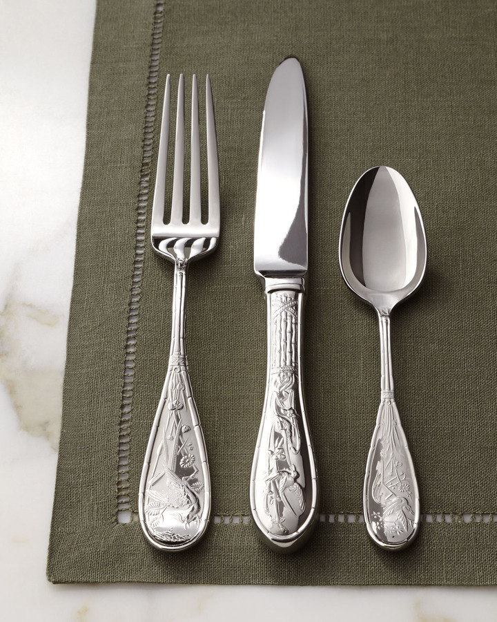 Ricci Silversmiths Japanese Bird Flatware