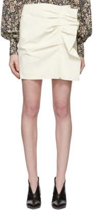 Isabel Marant Off-White Lefly New Stretch Cotton Skirt