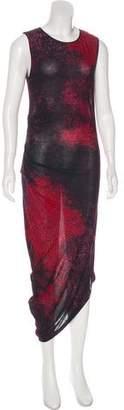 Halston Sleeveless Maxi Dress