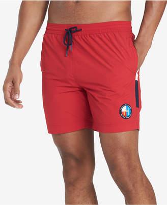 "Tommy Hilfiger Men Trenton Logo Stripe 6.5"" Swim Trunks"