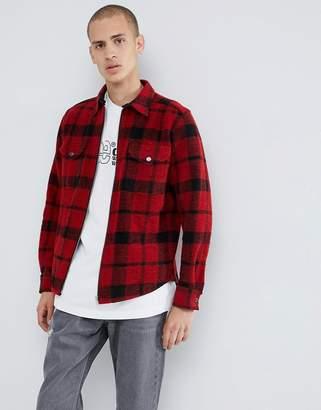 Lee Wool Zip Overshirt Jacket