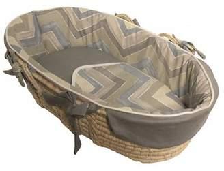 Harriet Bee Orear Chevron Tailored Moses Basket with Bedding Harriet Bee