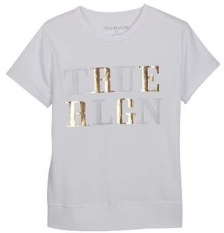 True Religion Foil Rib Tee (Big Girls)