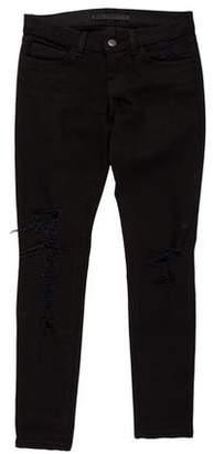 J Brand Torn Jett Low-Rise Jeans