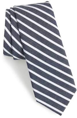 Nordstrom Holborn Stripe Cotton Skinny Tie