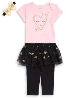 Baby Girl's Three-Piece Tutu Leggings Set