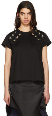 Sacai Black Lace-Up T-Shirt