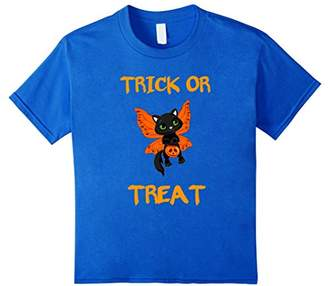Halloween T Shirt Cat Candy Trick or Treat Tee