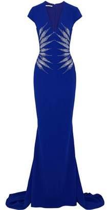 Stella McCartney Crystal-Embellished Crepe Gown