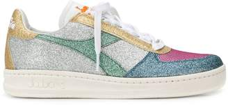Diadora glitter colour-block sneakers